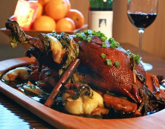 Make Red Roast Duck w/ Baby Bok Choy with Ming