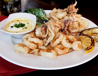 Try Jim Rogers' Crispy Calamari w/ Lemon-Crushed Red Pepper Aioli
