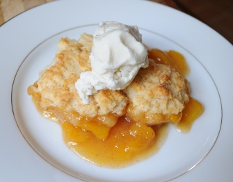 Bake a batch of Bea's Peach Cobbler