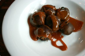 Roasted Chestnuts w/ Caramel Sauce