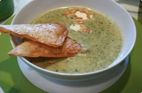 Spinach, Feta & Pine Nut Soup