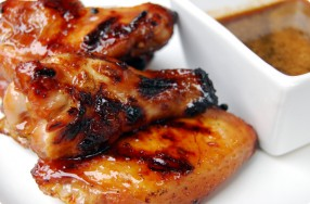 Grilled Chicken Wings w/ Brown Sugar & Soy Sauce