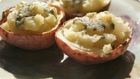 Blue Cheese Potato Skins