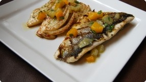Grilled Sea Bass w/ Fennel Confit