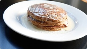 Gingerbread Pancakes w/ Vanilla Cream
