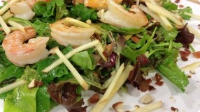 Triple A Salad (Arugula, Apple & Almonds)