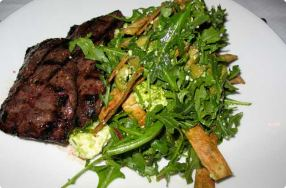 Skirt Steak w/ Arugula & Olive Salad