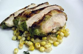 Herb Marinated Chicken w/ Corn Ragu