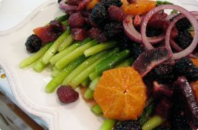 Asparagus, Blackberry & Orange Salad