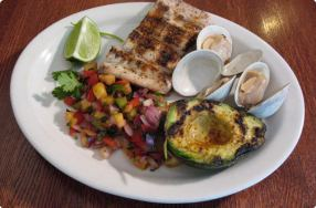 Latin Grilled Mahi Mahi & Avocado w/ Pineapple Salsa