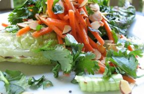 Grilled Romaine Slaw