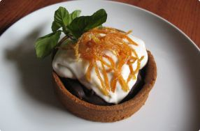 Chocolate & Caramelized Orange Tarts